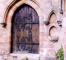 Doorway at Bolton Priory by Margaret Brown