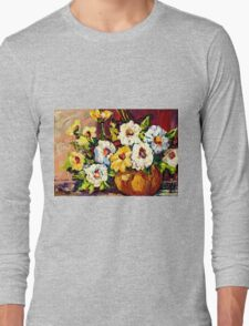 YELLOW AND WHITE FLOWERS BEAUTIFUL BOUQUET  Long Sleeve T-Shirt