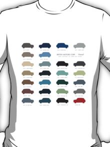 Austin Mini classic - 60's original colours  T-Shirt