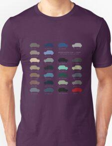 Austin Mini classic - 60's original car colours  Unisex T-Shirt