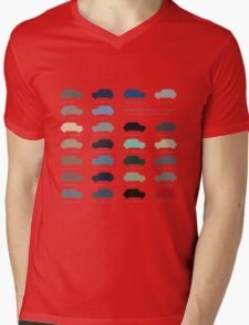 Austin Mini classic - 60's original car colours  Mens V-Neck T-Shirt