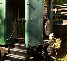 Green Train Car by Keith Stephens