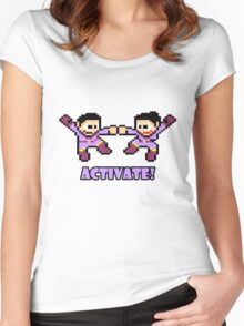 Mega Wonder Twins Women's Fitted Scoop T-Shirt