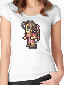 Aerith Sprite - FFRK - Final Fantasy VII (FF7) Women's Fitted Scoop T-Shirt