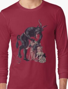 Merry Christmas from Krampus! Long Sleeve T-Shirt