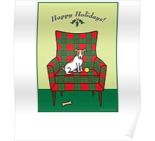 Holiday Jack Russell Poster