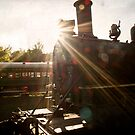 Train Light Lens Flare by Keith Stephens