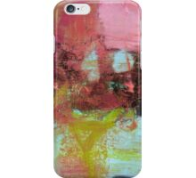 Red Pink Green abstract print  iPhone Case/Skin