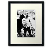 Black. White. BBQ. Framed Print