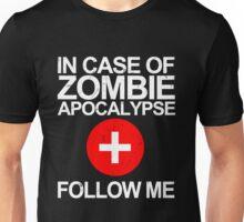 In Case Of Zombie Apocalypse [WHITE TEXT] Unisex T-Shirt