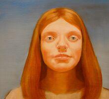 Red cadmium study #3 by Rachel  Aponte
