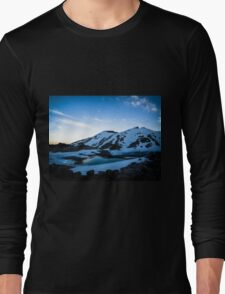Tranquil Lake Sunset Long Sleeve T-Shirt