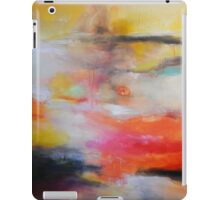 Red Blue orange painting, Abstract Landscape  iPad Case/Skin