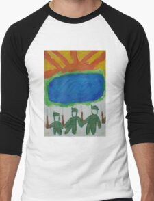 And their ghosts may be heard as they march by that billabong Men's Baseball ¾ T-Shirt