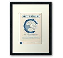 The Wheel of Sherries Framed Print