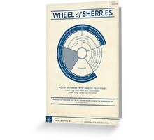 The Wheel of Sherries Greeting Card