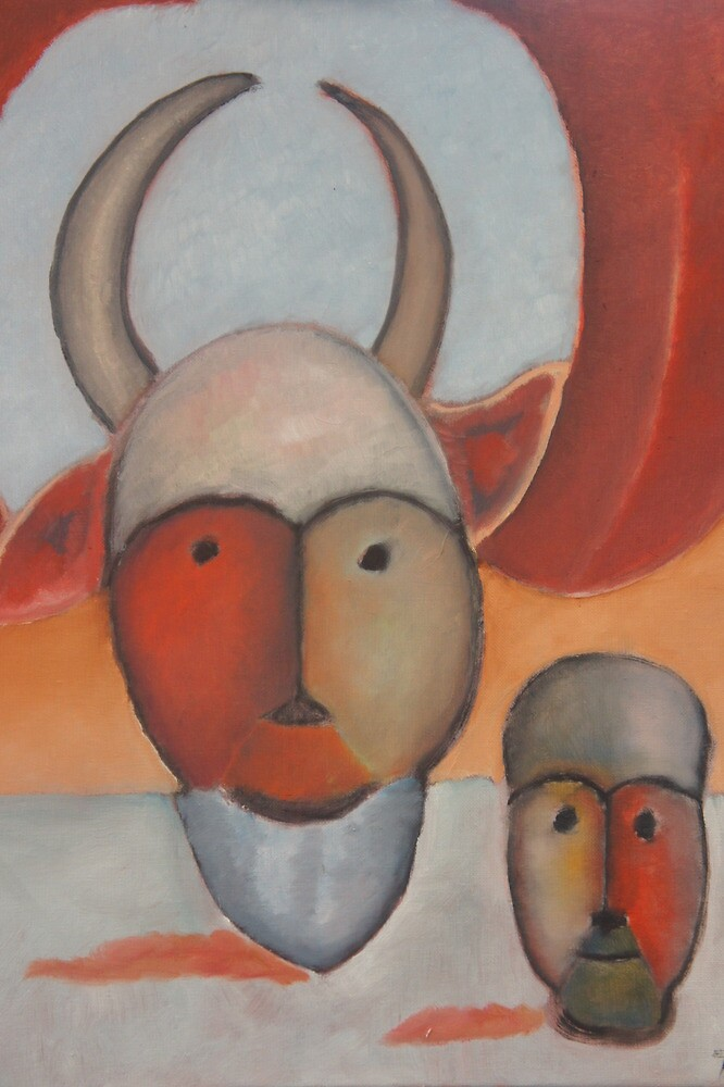 Clown with Two Horns. by Tim  Duncan