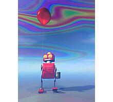 Little Red Birthday Robot 2 Photographic Print