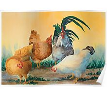"""""""Rise 'n Shine"""" - Rooster with the girls Poster"""