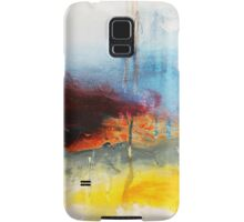 Yellow Blue Abstract Art Print Samsung Galaxy Case/Skin