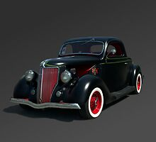 1936 Ford Custom Coupe in Primer by TeeMack