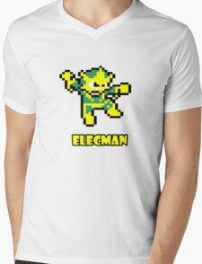 Elecman Mens V-Neck T-Shirt