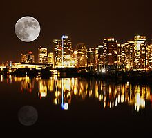 Vancouver at Night : Canada by AnnDixon
