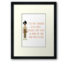 The IT Crowd – Dog Poo and Knives Cake Framed Print
