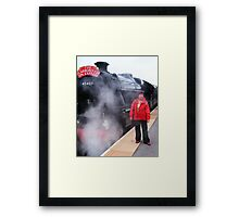 Standing By (And posing with the engine !) Framed Print