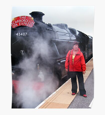 Standing By (And posing with the engine !) Poster