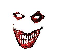 Joker Creepy Smile. Photographic Print