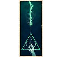 The three Hallows: Lord Voldemort's avada kedavra Photographic Print
