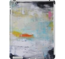 Lavender Touch, blue white abstract print from original painting  iPad Case/Skin