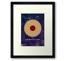 Self-Destruct Button Framed Print