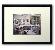 Where I Paint Framed Print