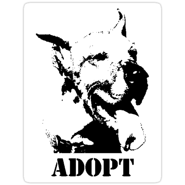 Finding Art - ADOPT (STICKER) by Anthony Trott