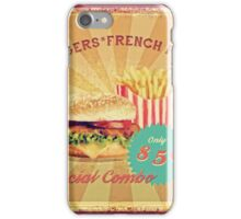 50s Burger and Chips ! iPhone Case/Skin