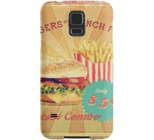 50s Burger and Chips ! Samsung Galaxy Case/Skin