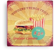 50s Burger and Chips ! Metal Print