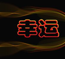Chinese characters of LUCKY by Ingvar Bjork Photography