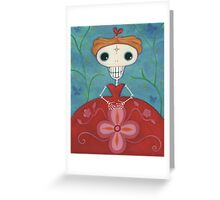 Skelly Lady in a Red Dress Greeting Card