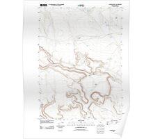 USGS Topo Map Oregon Clover Swale 20110816 TM Poster