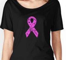 Pink Breast Cancer Ribbon With Love  Women's Relaxed Fit T-Shirt