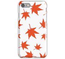 Falling leaves of japanese red maple  iPhone Case/Skin