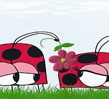 Ladybug Wooing His New Love by OneArtsyMomma