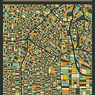 LOS ANGELES MAP by JazzberryBlue