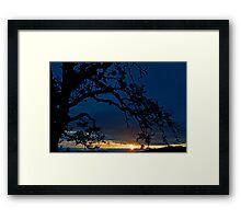 Ankeny Hill Sunset Framed Print