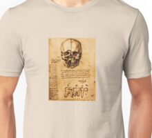 SKULL AND TEETH ,DENTAL PARCHMENT Unisex T-Shirt