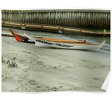 Tribal Canoe Journey ~ Canoes Resting On Shore Poster