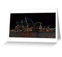 Opera Glow Greeting Card